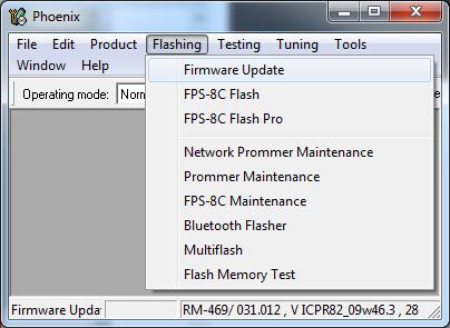 Flash menu