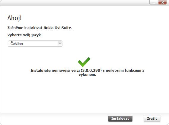 Instalace verze 3.0.0.290