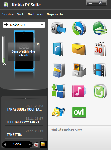 N9 a Nokia PC Suite